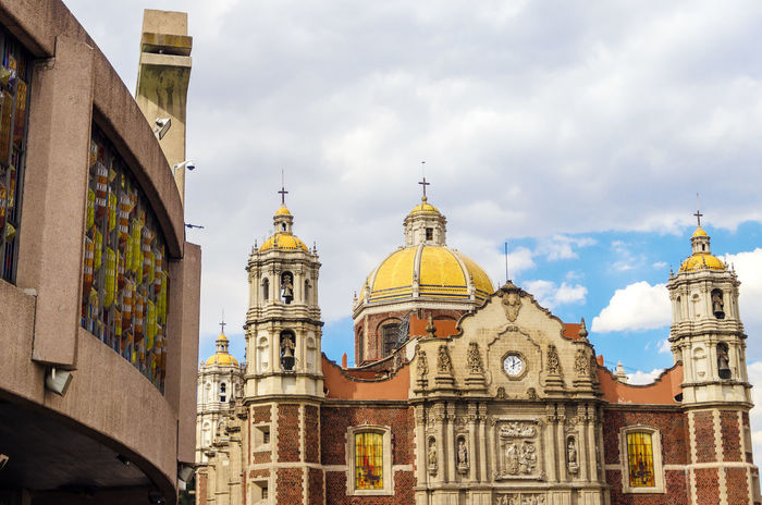 View of both the old and the new Basilica of Our Lady of Guadalupe Afternoon Architecture Basilica Building Catholic Christian Church City Cityscape Guadalupe Lady Late Mexican Mexico Mexico City Outdoors Religion Religious  Sacred Sky Skyline Summer Travel Vacation View