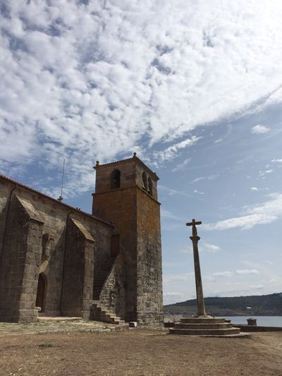 Galicia SPAIN Cruceiro Church Romanic Church Romanic Architecture Cloud - Sky Place Of Worship Spirituality Blue