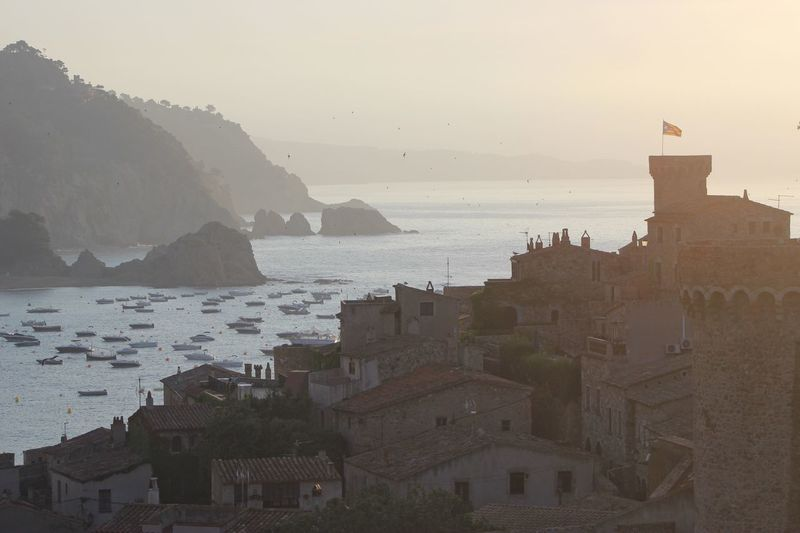 Tossa de Mar in the morning light Sea Water Architecture Building Exterior Built Structure No People Mountain Sunset Tossa De Mar SPAIN Catalunya Landscape Travel Destinations Scenic Morning Castle Nature Outdoors Scenics Sky City Horizon Over Water Beauty In Nature Day Cityscape Breathing Space Your Ticket To Europe