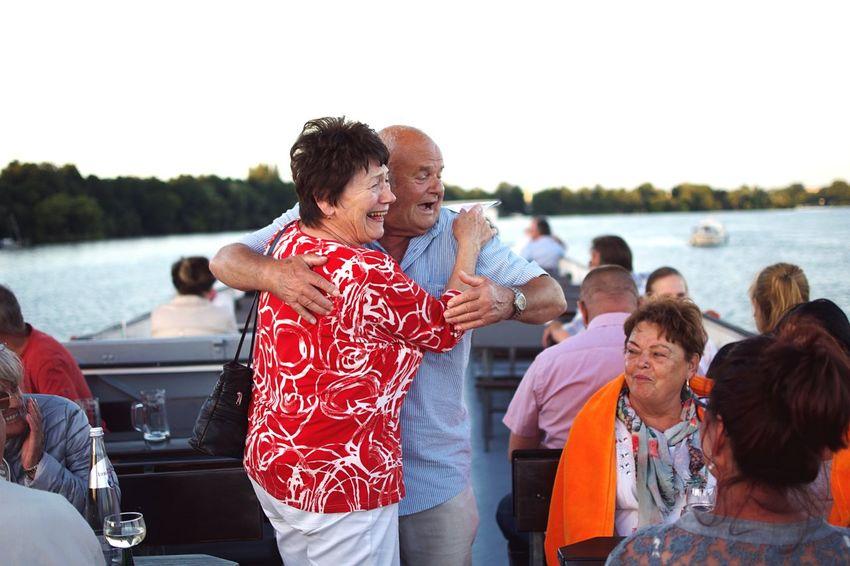 Omi und Opi. Anniversary Joy Lebensfreude Dancing Laughing Celebration Celebration Event Family Bonds Family Time Family Relationship Lifestyles Portrait Photography Happiness Elderly Grandparents Love