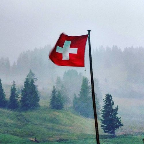 I guess it's a Swiss Tradition that it should Rain like Crazy then Hail  right after a Super Sunny Hike ! Crazyweather fits Crazypeople Hariclanadventures Adelboden Exploreswitzerland Explore Weather Flag Redcross Showers Myadelboden Switzerland Nature Naturelover