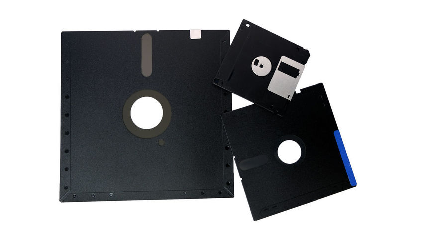 group of old storage diskette floppy disk on white background Classic Old Technology Vintage Style Bisness Comceptual Computer Diskette Low Tech Momory No People Save