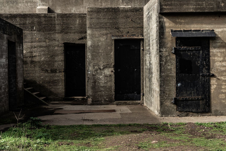 Architecture Built Structure Abandoned Building Old Entrance Door History No People Outdoors Building Exterior Spooky The Past Remote House Solitude Weathered Wall Empty Nature