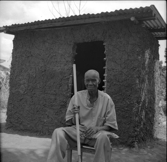 Old man, new kitchen Uganda  Film Photography Analogue Photography Portrait Zeiss Ikon Nettar Ilford This Is Aging