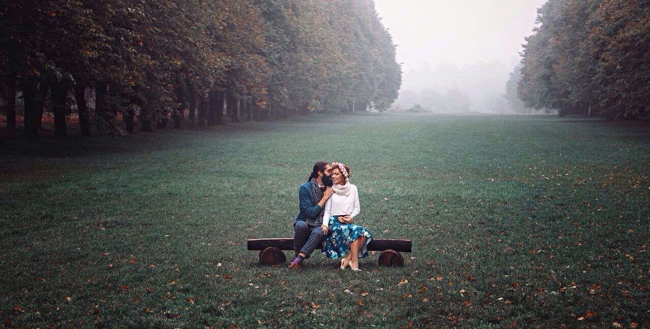 togetherness, two people, real people, grass, young women