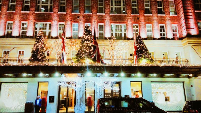 Rich Christmas.. Architecture Outdoors Day Hotel Christmas Around The World Christmas Decorations Christmas Lights Christmas Tree Lights Mayfair, London The May Fair London Building Exterior City Night Built Structure Architecture Illuminated Winter Business Best Of EyeEm Urban
