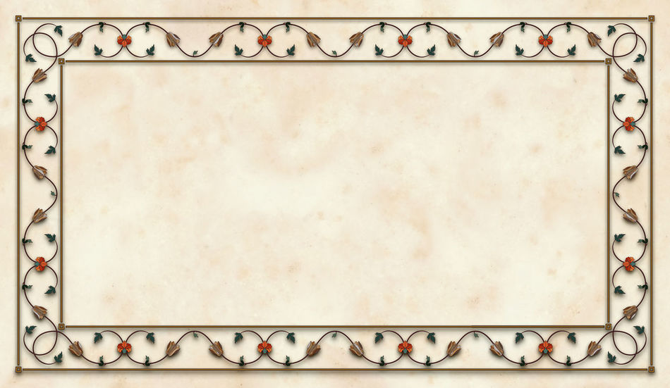 Blank Copy Space Directly Above Empty Floral Floral Frame Floral Ornament Frame Gemstones Indian Indian Culture  Marble Marble Background Marbledstone No People Old-fashioned Retro Styled White Background