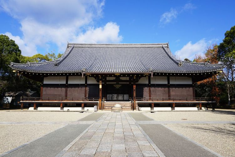 2016 Architecture Building Exterior Built Structure Cultures History Japan Kyoto Ninnaji Place Of Worship Religion Roof Sky Tree World Heritage 京都 仁和寺 真言宗