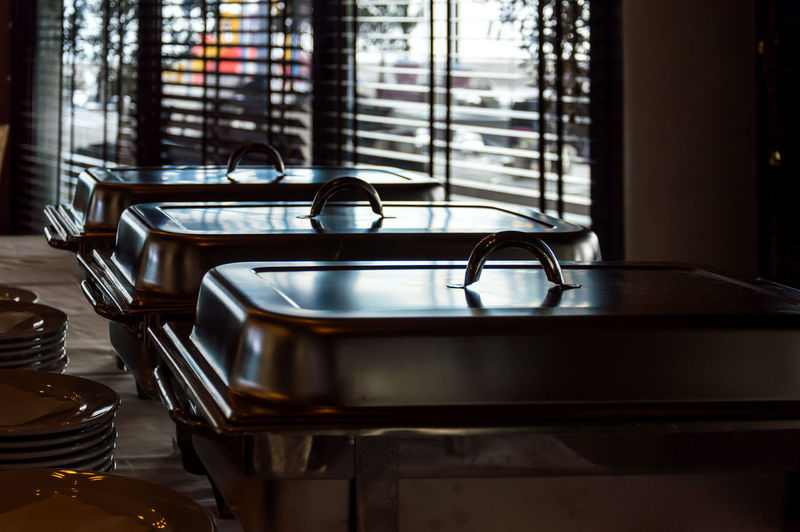 Empty seats in restaurant at home