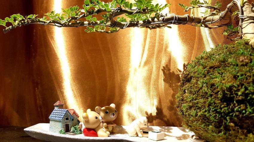 Rilakkuma❤ and Dog❤ Animal Representation Toy Figurine  Celebration Christmas Tree No People Christmas Decoration Indoors  Childhood Day Lifestyles Happy :) Rilakkuma Relaxing ♥ Bonsai Tree Bonsai Mini  Bonsaitree Bonsai Like Trees