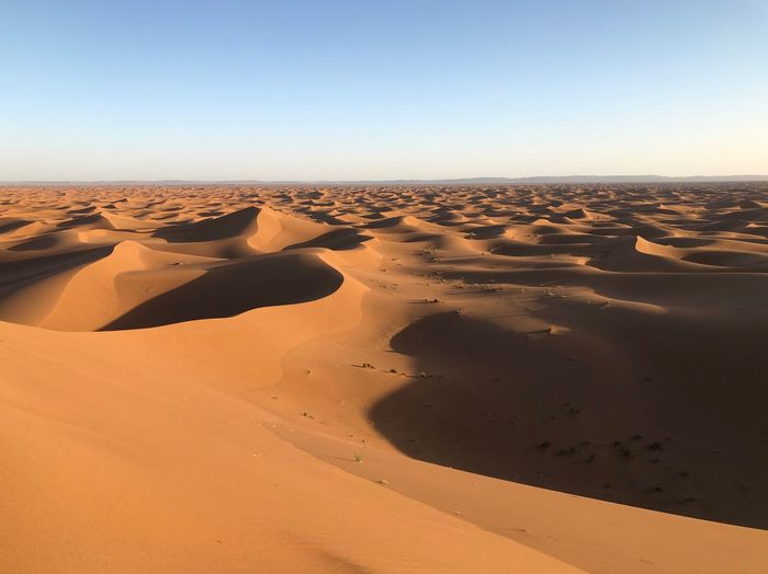 EyeEm Selects Sand Land Sky Scenics - Nature Desert Landscape Environment Arid Climate Tranquility Sand Dune Clear Sky Climate Nature Non-urban Scene Tranquil Scene Beauty In Nature Remote No People Day Copy Space