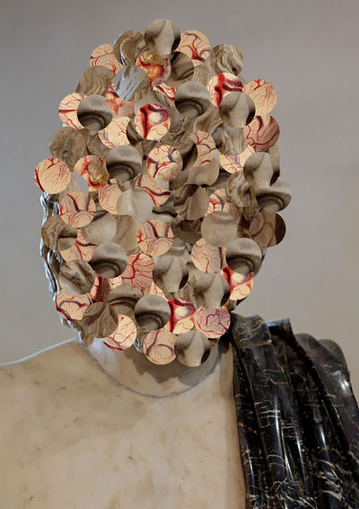 War Collage Collage Art Editing Abstract Anxiety  Bust  Male Form Mental Health  Photoshop Sculpture
