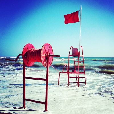 Sun Wind Red Sea Redflag Flag Mare Bandierarossa Vento Beach Beach Life Italy