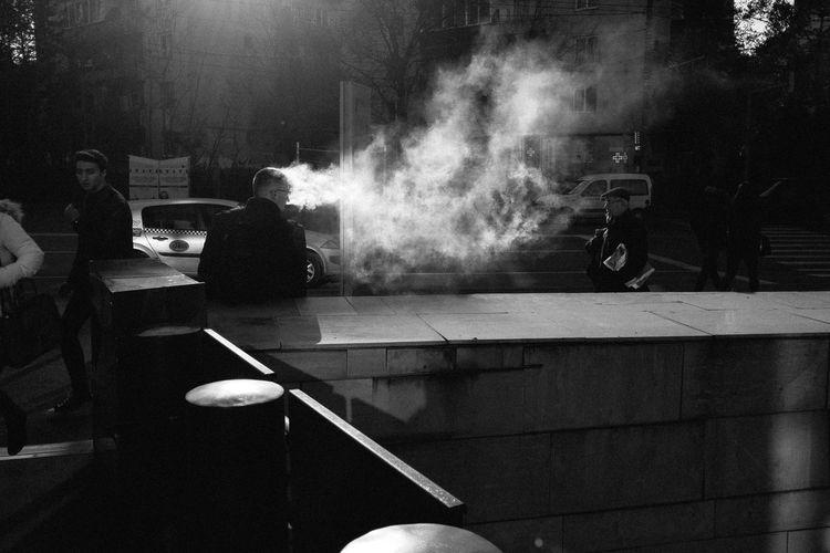 Smoking VapeLife Blackandwhite Cigarette  Day Men Outdoors People Real People Smoke - Physical Structure Vape Wind