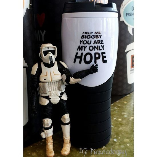 Thirstythursday has me like... Biggby Biggbycoffee  Coffeeordeath Nocoffeenoworky Coffee Scouttrooper Blackseries