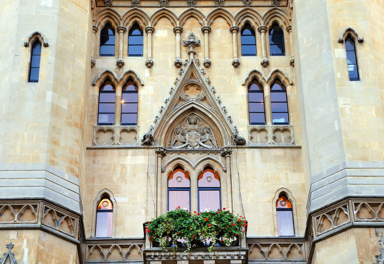 Low angle view of collegiate church at westminster abbey