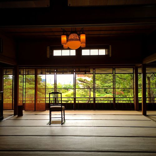 鶴舞園 本間美術館 酒田 Yamagata,Japan Tranquil Scene Tranquility Travel Destinations Japan Photography Architecture Built Structure Lighting Equipment Seat Indoors  No People Day