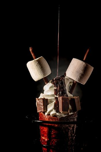 Dark mood food Photography Black Background Studio Shot Food And Drink Indoors  No People Close-up Still Life Food Drink Refreshment Freshness Coffee Copy Space Hanging Celebration Indulgence Creativity Cut Out Red Brown The Foodie - 2019 EyeEm Awards