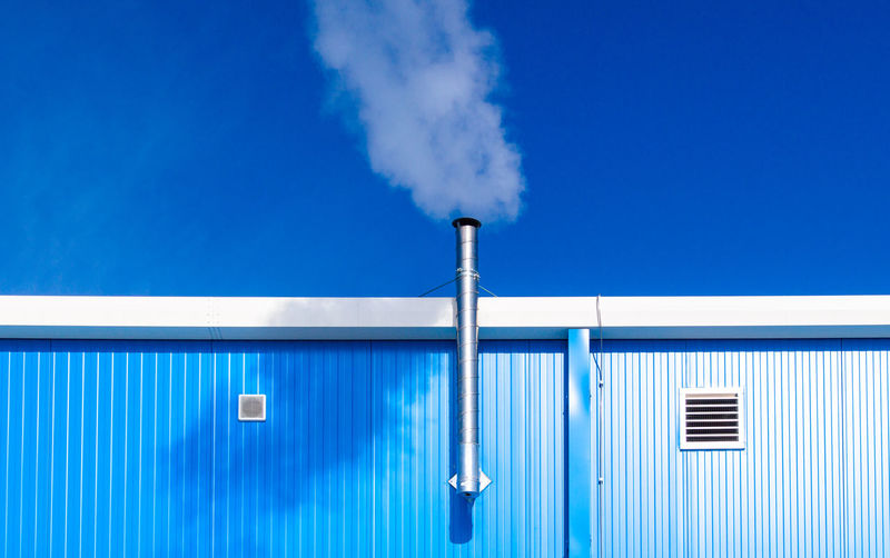 Factory against blue sky