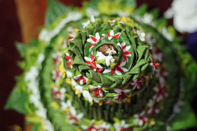 Ranup Aceh Aceh INDONESIA Betel Leaf Handmade Tradition Cultures Leaf Wedding Flowers