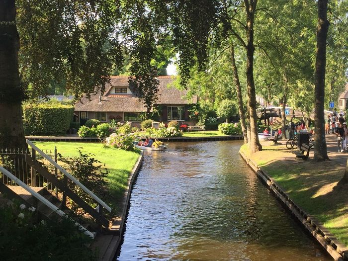 Giethoorn Hollande Tree Plant Water Architecture Built Structure Nature Day