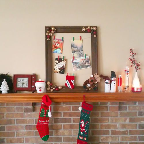 Christmas time vibes 🎄☃🌟❄🎅❤ Christmas Decorations Fireplace Mäntel Crafty Creative Home Interior Morning Lawrence KS Object Photography Red Softness Domestic Room Day Indoors Chill