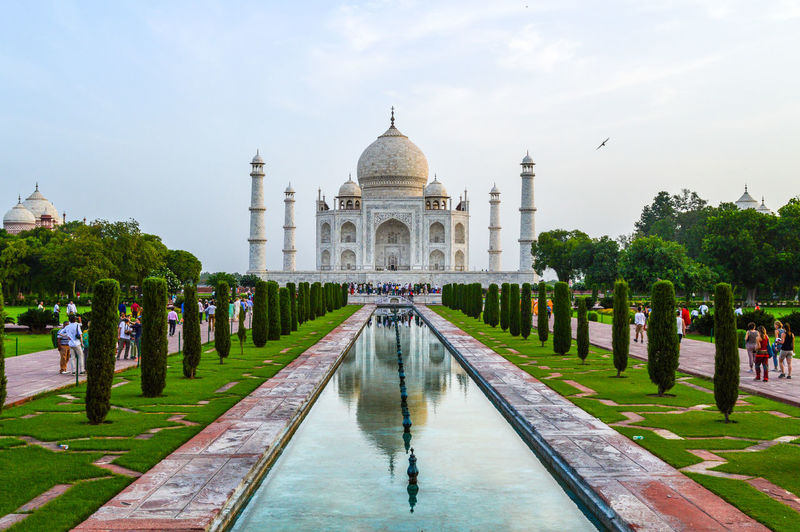 Taj Mahal Against Sky