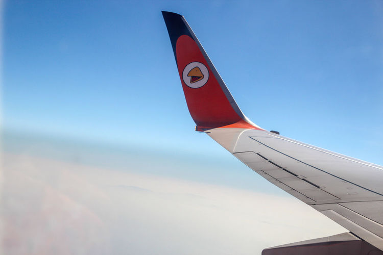 Sky And Clouds Thailand Air Vehicle Airplane Airplane Wing Close-up Day Flying Nature No People Nok Air Nok Airlines Outdoors Sky Transportation