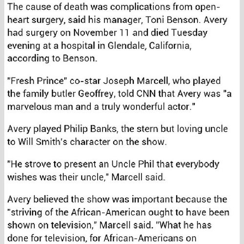 How sad :( Unclephil Freshprinceofbellair