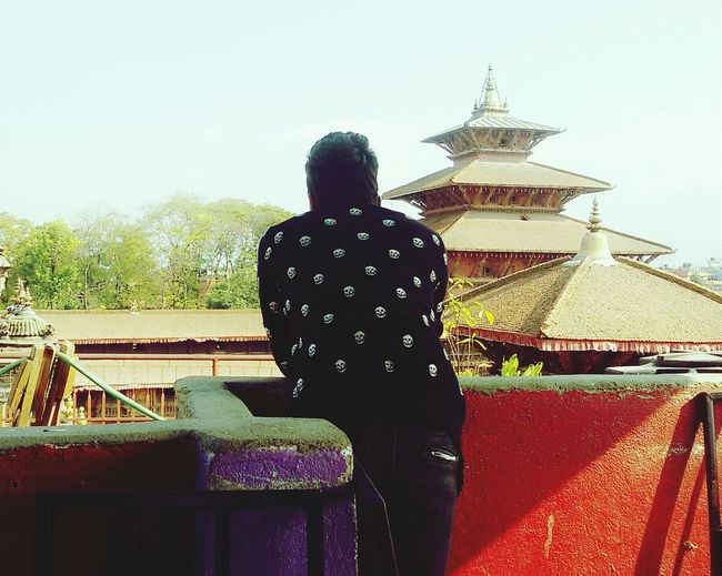 looking over beautiful Patan Durbar Square.... First Eyeem Photo Portrait Of A Friend Cultural Heritage People Photography