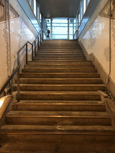 Staircase Steps And Staircases Steps Railing The Way Forward Indoors  No People Day Manseibashi Station Manseibashi JREast Japan Railway Old Station 1935 Tokyo Japan The Architect - 2017 EyeEm Awards