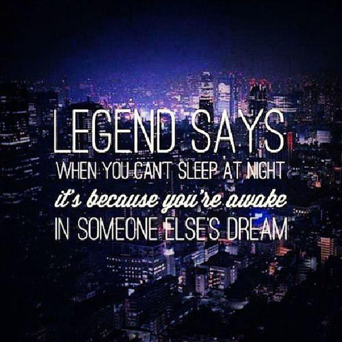 Sleep tight! Quote Ledgend Sleep