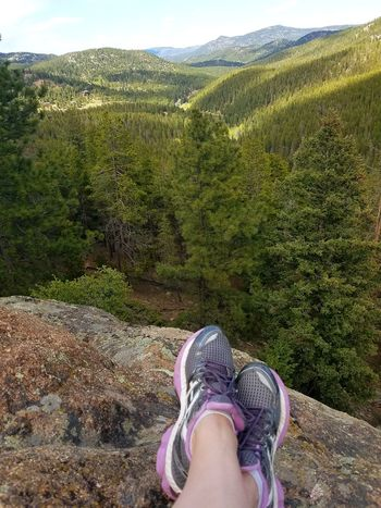 Overlook rock. The height and view amazing Shoe High Angle View Outdoors Nature Mountains And Sky High Angel View Out Of The Box