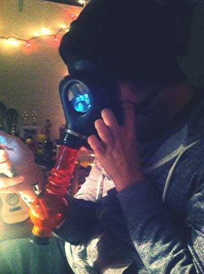 He down other hit on gas mask. Oh my gosh, he crazy but I love him to dead.