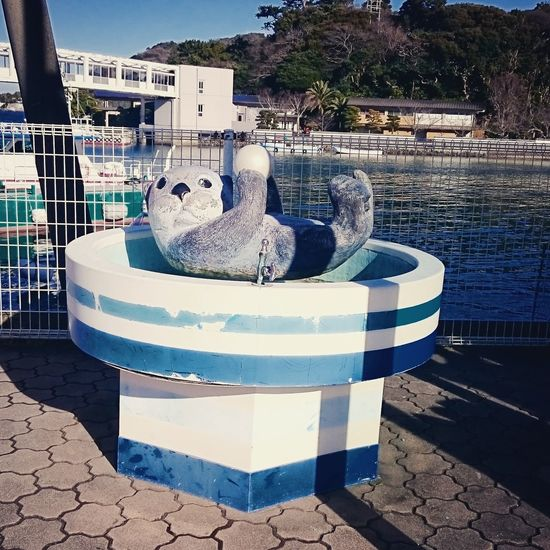 Fountain Japan Otter Animal Motif Animal Themes Architecture Day Outdoors Sea Otter