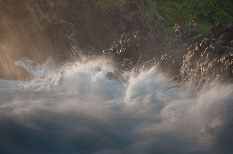Nature Outdoors Day Beauty In Nature Landscape Dramatic Waves Wave Tropical Climate Motion Water Motion Exposure MotionCapture Dramatic Dramatic Wave Crashing Rock - Object Travel
