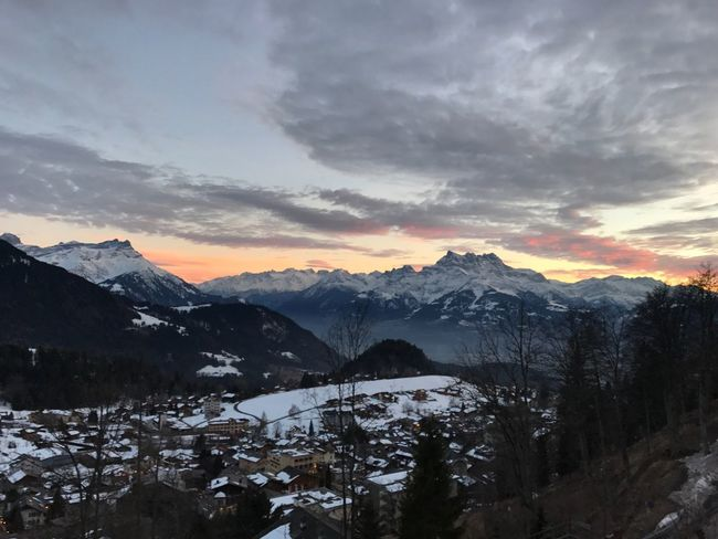 Beauty In Nature Snow Mountain Winter Sky Leysin Switzerlandpictures Nature