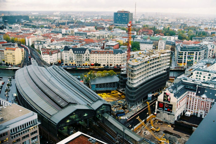 Aerial View Architecture Bahnhof Friedrichstrasse Berlin Berlin Mitte Berliner Ansichten Building Building Exterior City Cityscape Outdoors Top Perspective Tower