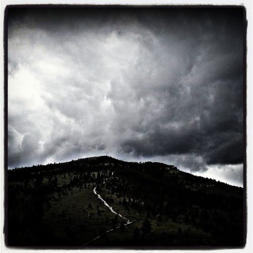 Quick! Run for it! MtHelena is erupting!... oh wait, nevermind, its just cloudy. Hiking Helena Montana stormyday