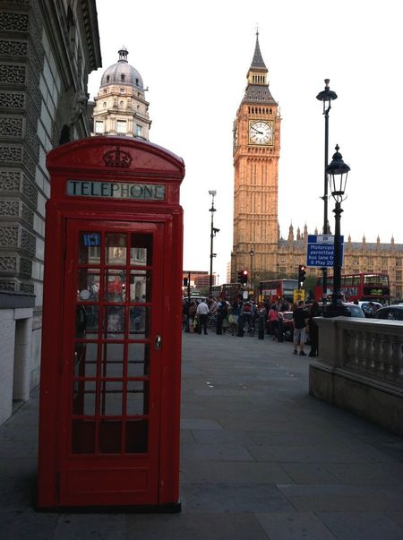 London Doubledeckerbus EyeEmNewHere Bigben Clock Tower Architecture Clock Tower Built Structure Telephone Booth Building Exterior Travel Destinations Red Pay Phone City Outdoors Day Time Clock Face Mobility In Mega Cities