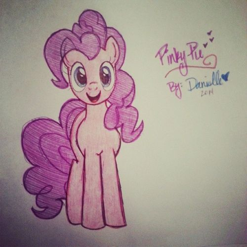 Sometimes I draw things MyLittlePony Pinkiepie Art Imnotabrony