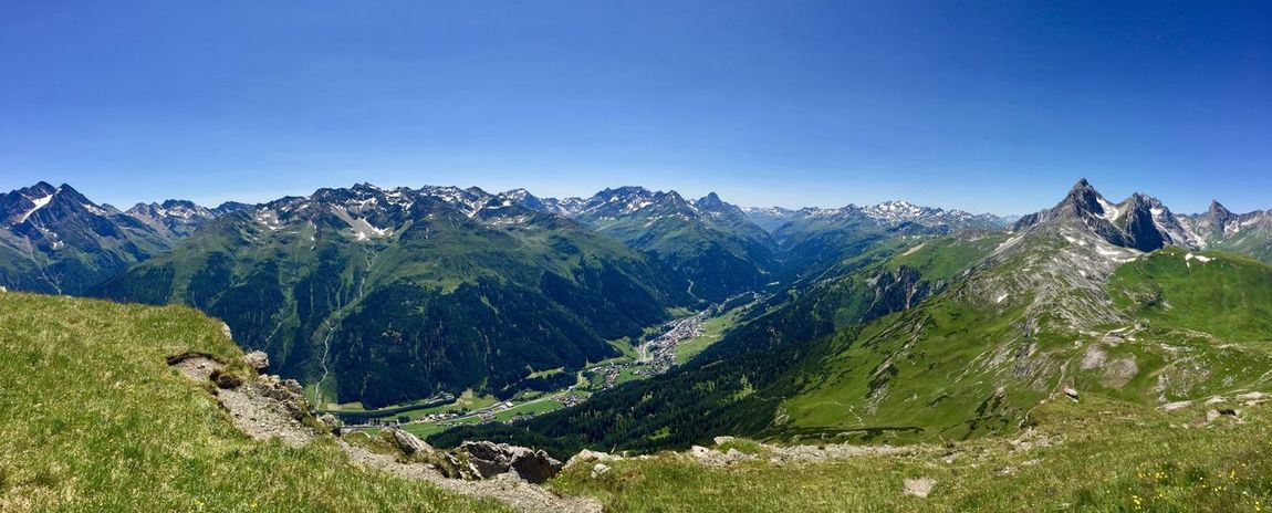 Blue Sky On The Top of Mountain Mountain Range Sankt Anton Am Arlberg Beauty In Nature Mountains Landscape