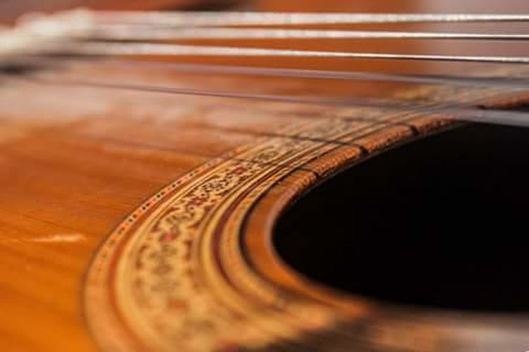 Selective Focus Close-up Wood - Material Indoors  Extreme Close Up Extreme Close-up Full Frame Hobbies Accoustic Guitar