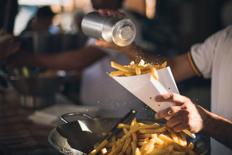 let's be honest: who doesn't like French fries? Fries Salt Food Food And Drink Food Stories French Fries Holding Human Body Part Human Hand Preparation  Ready-to-eat Salty Yummy