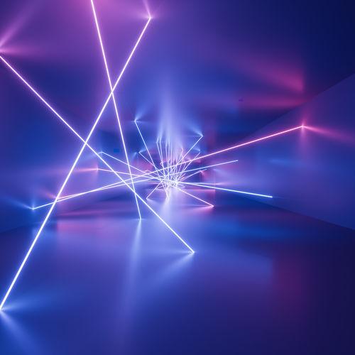 Illuminated abstract pattern