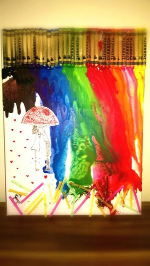 Multi Colored No People BeCreativeAndMakeSomething Creative Art, Drawing, Creativity Art Crayon Handmade For You