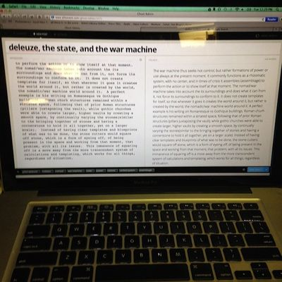 Deleuze the State and the War Machine