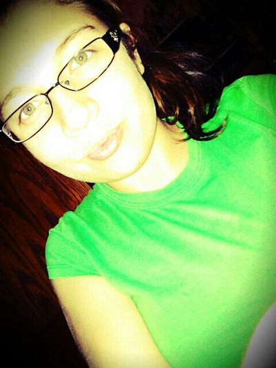 I Love Green Color my Eyes & Shirt!!!