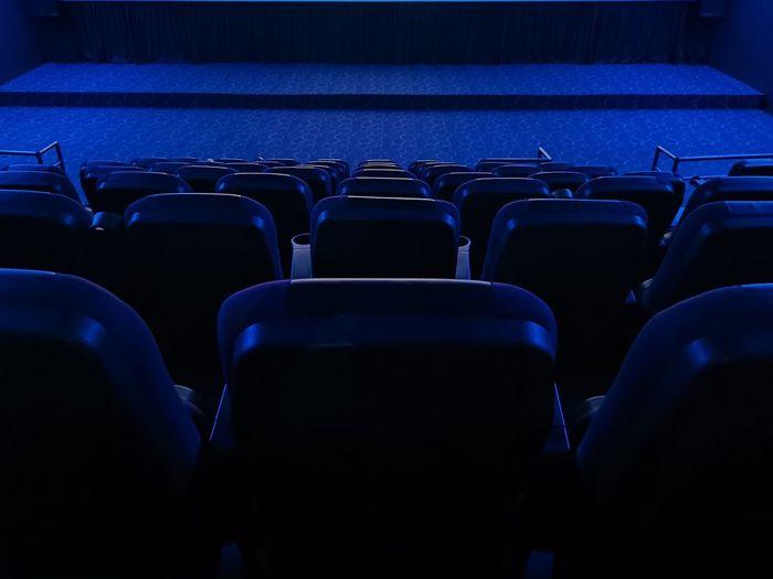 Interior of empty theater