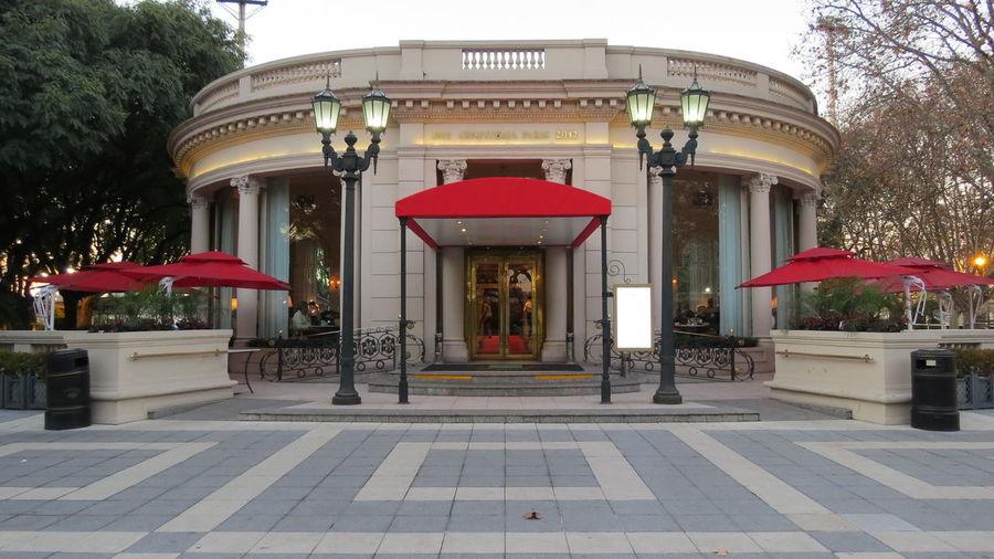 Architectural Column Architecture Built Structure City Column Day Entrance Façade Hipodromo Argentino De Palermo La Paris Outdoors Red The Way Forward